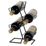 Stojan na víno Stower, na 4 lahve, černý kov