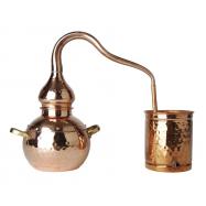 Alembic - DESTILAČNÍ ZAŘÍZENÍ měděné dekorativní 1,5 l